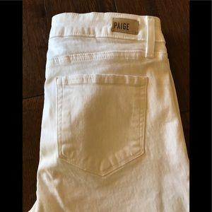 NWOT PAIGE Skyline Ankle Peg Skinny White Jeans